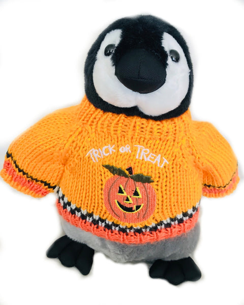 "Halloween Trick or Treat Penguin Plush (10"" Tall)"