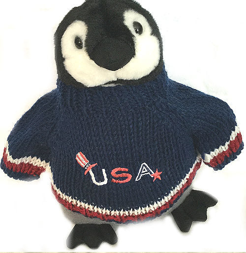 USA Patriotic Penguin Plush Stuffed Animal Toy Gift 4th Of July Memorial Day