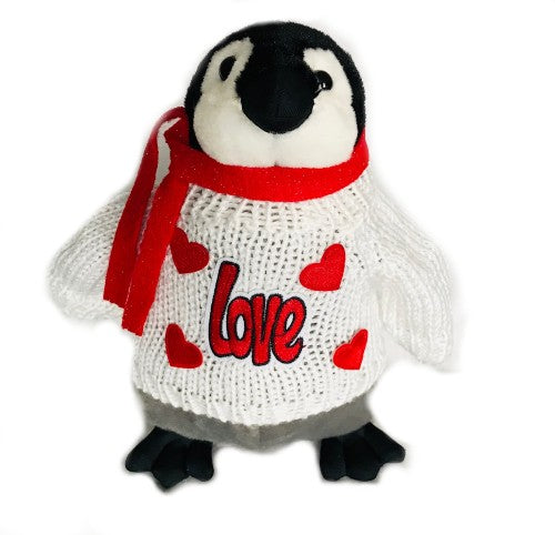 "Love Hearts Valentine's Day Penguin Plush (10"" Tall)"