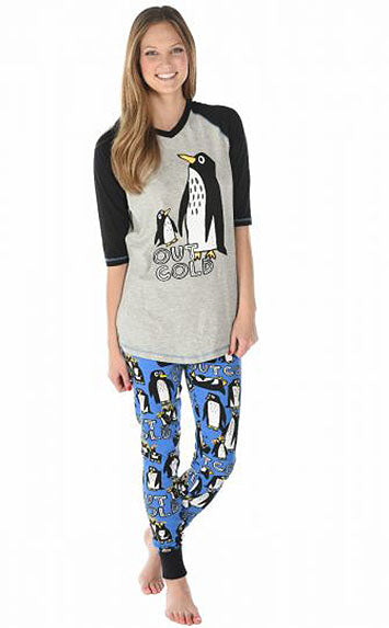Penguin Pajamas Out Cold Leggings Apparel Gift