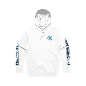 "Open image in slideshow, Luminosity ""Classic White"" Pullover Hoodie"