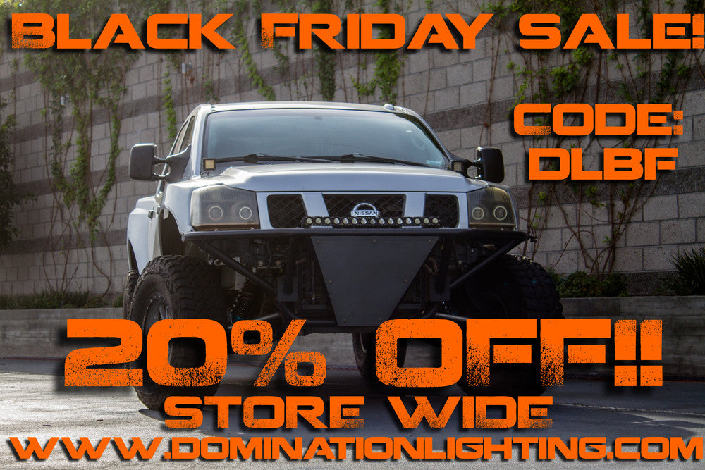 black friday promo at domination lighting