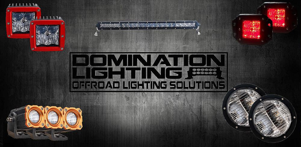 domination lighting now has RGB backlighting available, lifetime warranty on all products