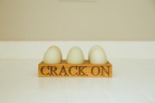 Half Dozen Oak Egg Rack