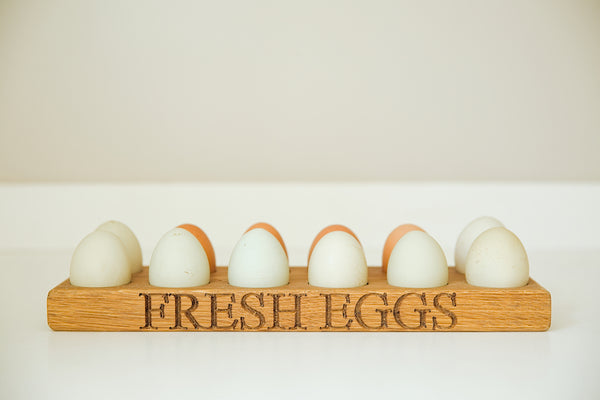 Dozen Oak Egg Rack