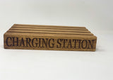 Multi Device Oak Charging Block