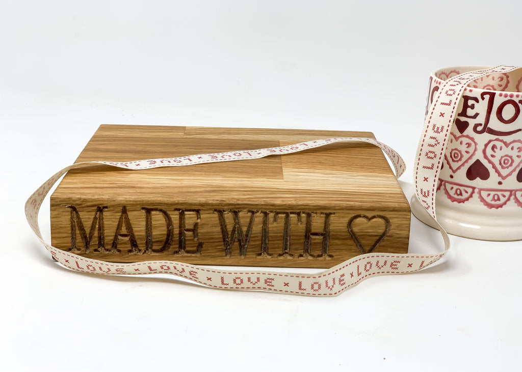 Valentines Mini Oak Board