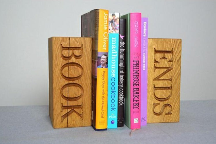 Book Ends - Oak Book Ends