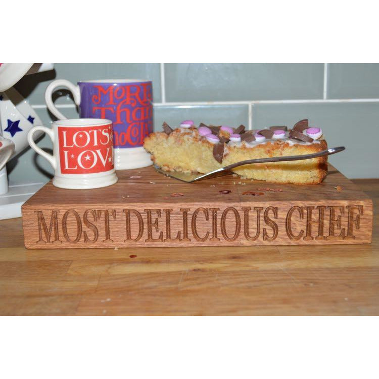 Chopping Boards - Valentines Small Oak Chopping Board