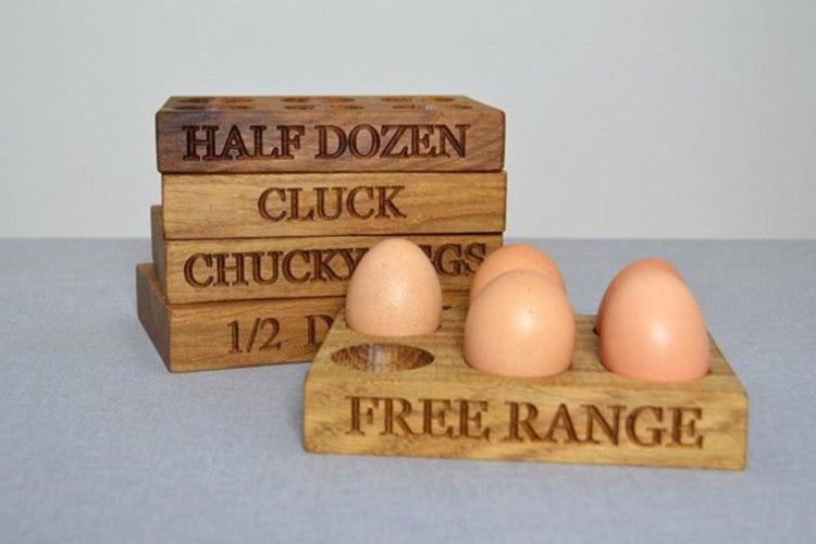 Egg Rack - Half A Dozen Oak Egg Rack