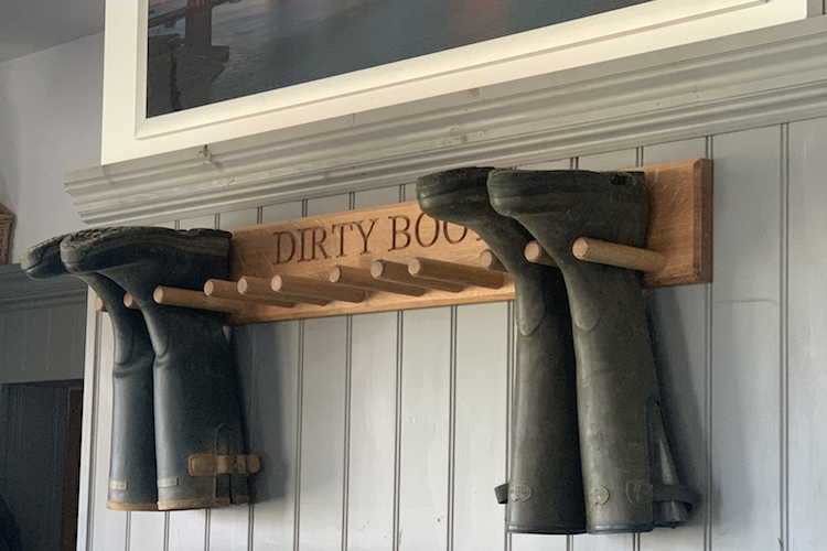 Wall Hanging Welly Boot Rack