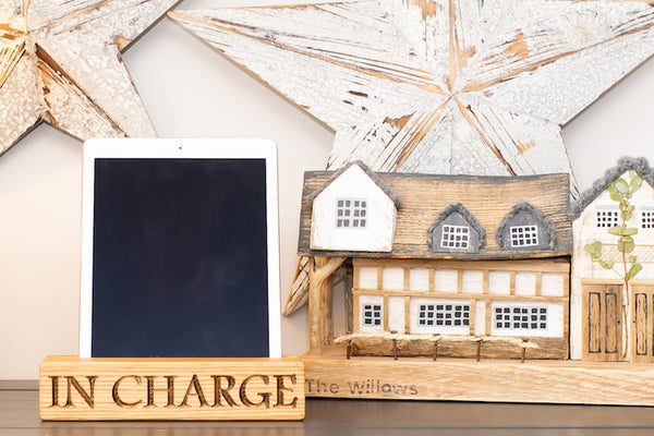 Single Tablet Oak Charging Block