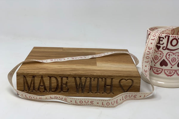 Made with Love Mini Oak Chopping  Board