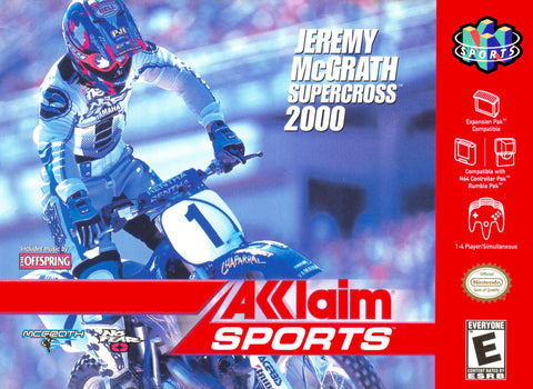 Jeremy McGrath Supercross 2000 (Nintendo N64, 2000)