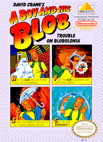 A Boy and His Blob: Trouble on Blobolonia (Nintendo NES, 1989)