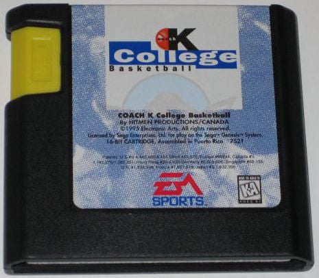 Coach K College Basketball (Sega Genesis, 1995)