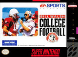 Bill Walsh College Football (Nintendo SNES, 1994)