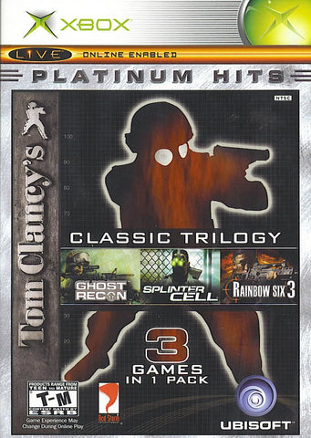 Tom Clancy's Classic Trilogy (Microsoft Xbox, 2004)