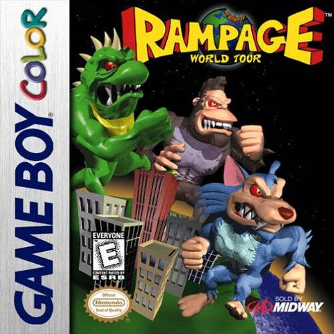 Rampage World Tour (Nintendo Game Boy Color, 1998)