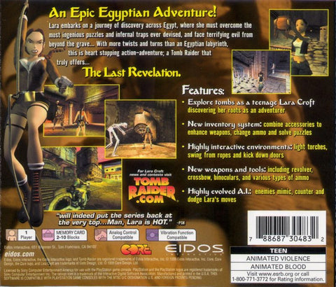 Tomb Raider The Last Revelation Sony Playstation 1999 Red