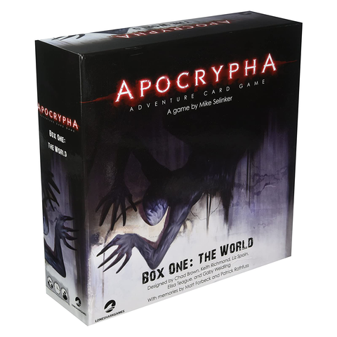Apocrypha Adventure Card Game: Box One – The World - Card Game (Lone Shark Games)