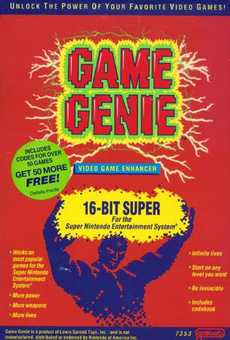 Game Genie For Super Nintendo Entertainment System Galoob