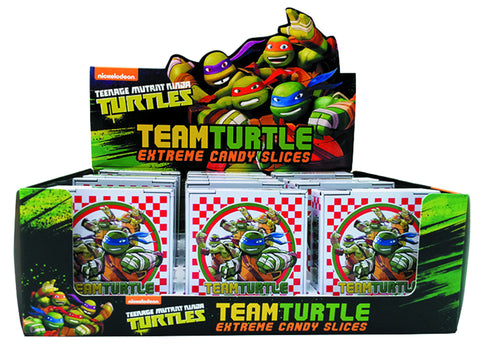 TMNT Team Turtle Extreme Candy Slices Pizza Box Tin - Candy