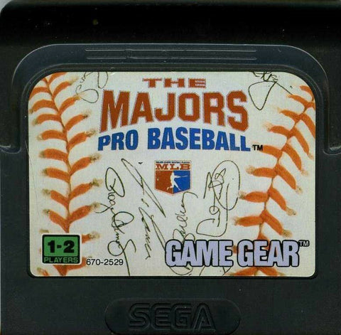 Majors Pro Baseball, The (Sega Game Gear, 1992)
