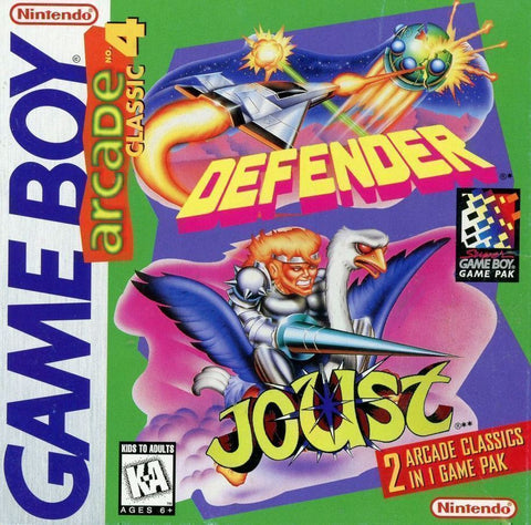 Arcade Classic No. 4: Defender / Joust (Nintendo Game Boy, 1999)