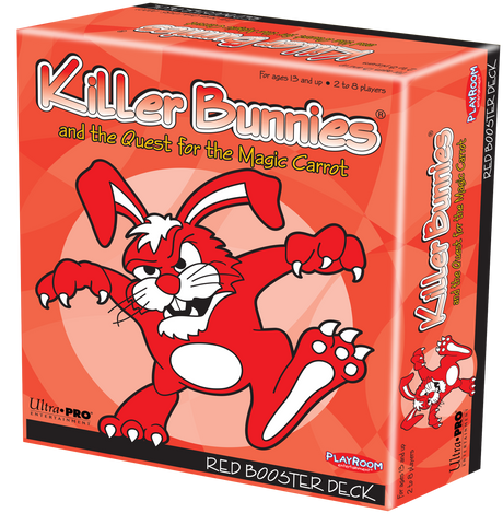 Killer Bunnies and the Quest for the Magic Carrot Red Booster Deck - Card Game Expansion (Playroom Entertainment)