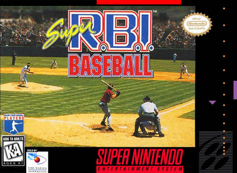 Super RBI Baseball Nintendo SNES 1995