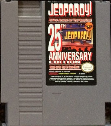 Jeopardy 25th Anniversary Edition (Nintendo NES, 1990)