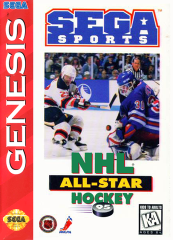 NHL All-Star Hockey 95 (Sega Genesis, 1995)