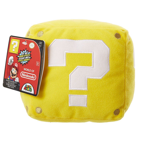 "Question Block with Sound 5"" Plush - Plush (Jakks Pacific)"
