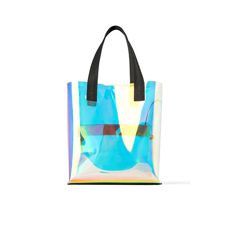 Hologram Transparent Rainbow Shoulder Bag Tote