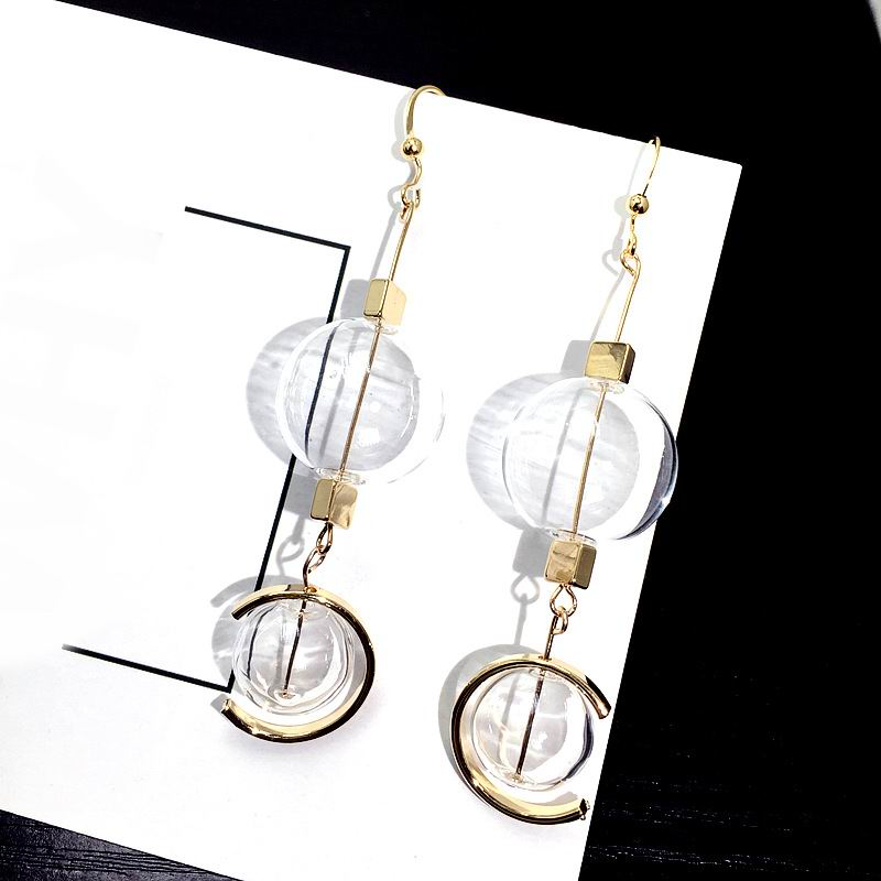 Hand Blown Bubble Long Earrings