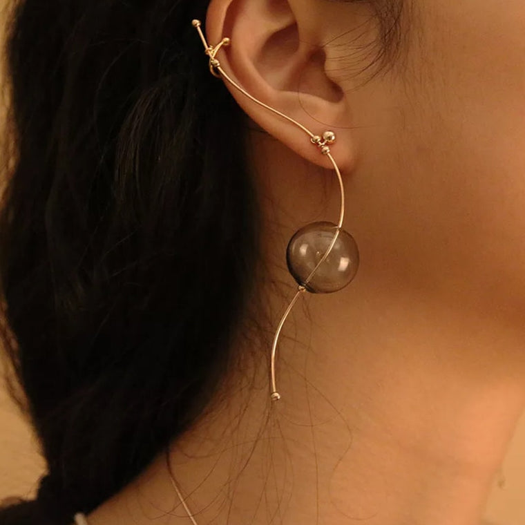 Water Drop Ear Cuff Earrings