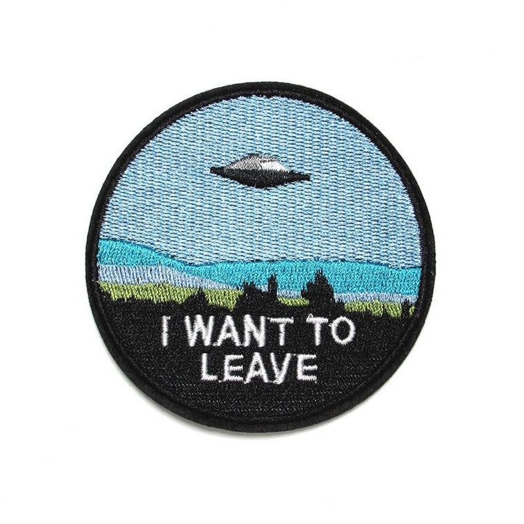 I WANT To LEAVE Alien Patch
