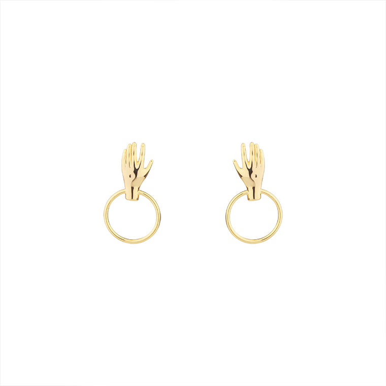 Fatma's  Hand Dangle Earrings