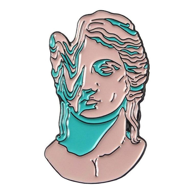Melted Sculpture Face Pin