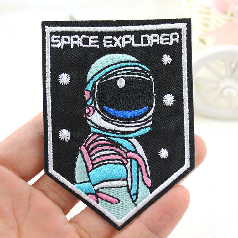Space Explorer Astronaut Embroidered Patch