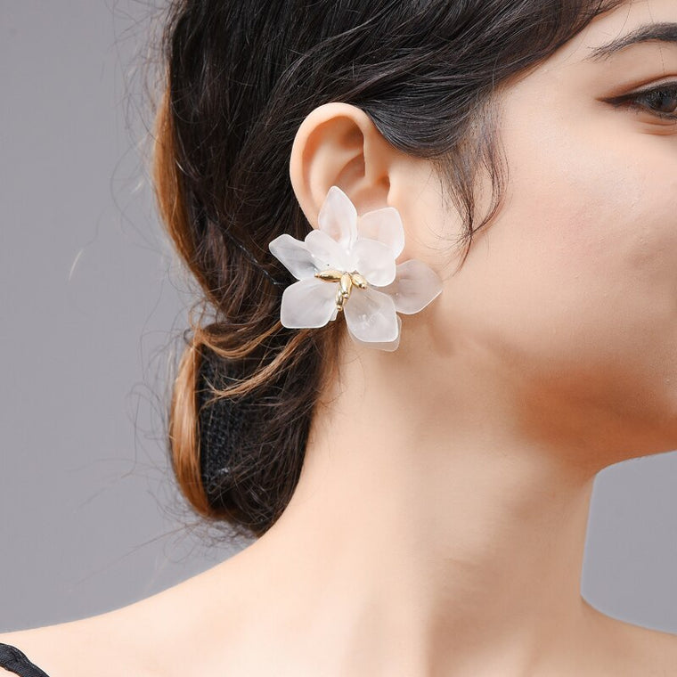 Gardenia Flower Earrings