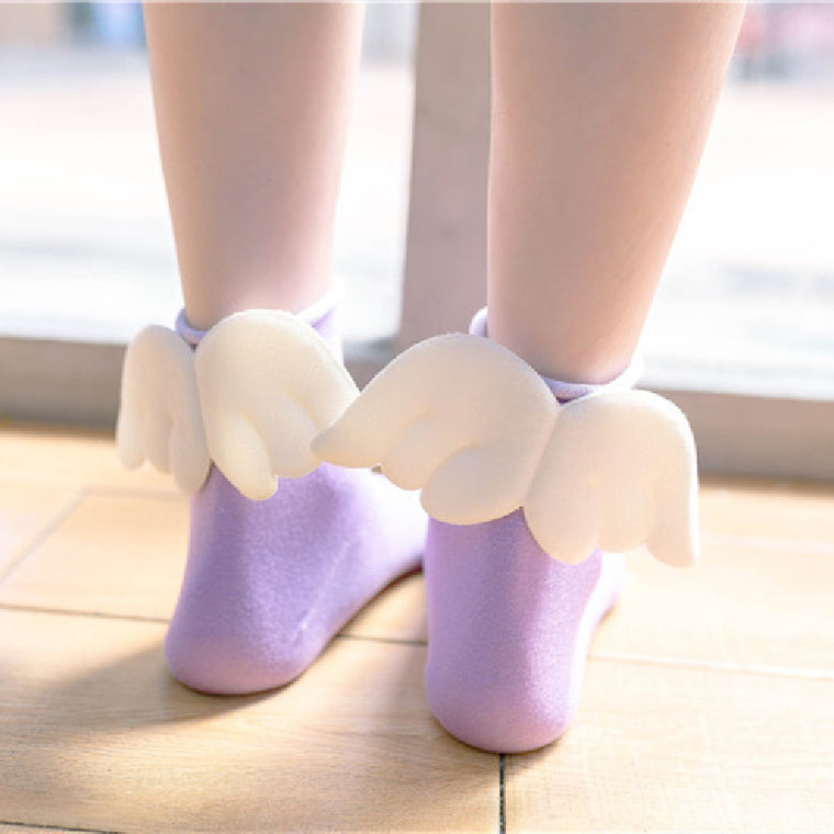 candy heel wings socks