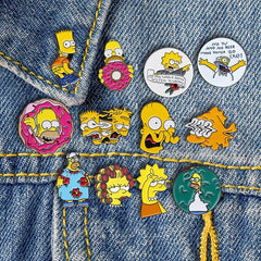 Homer and Bart Lapel Pin (The Simpsons Family )