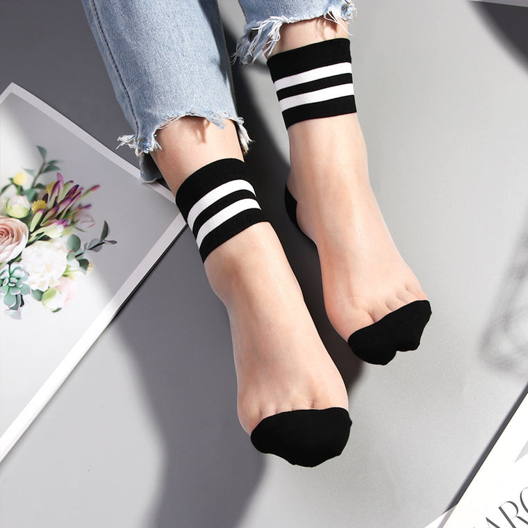 Striped Transparent Socks