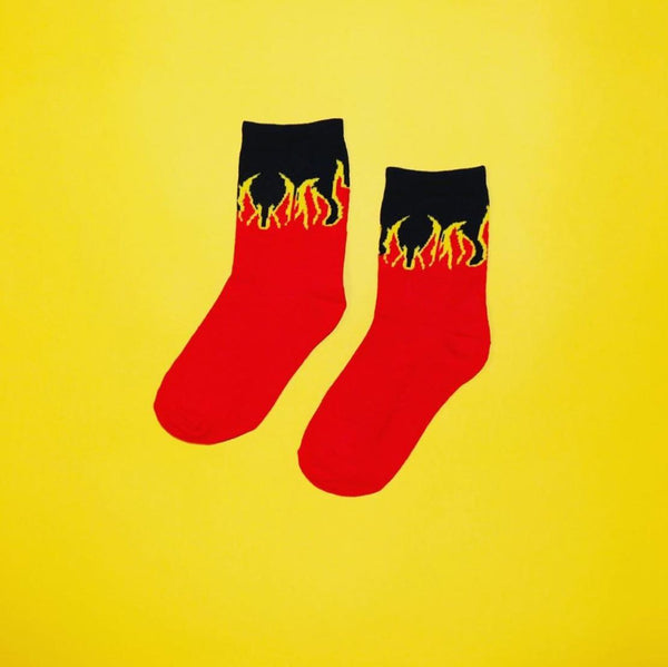 Red Flames Socks