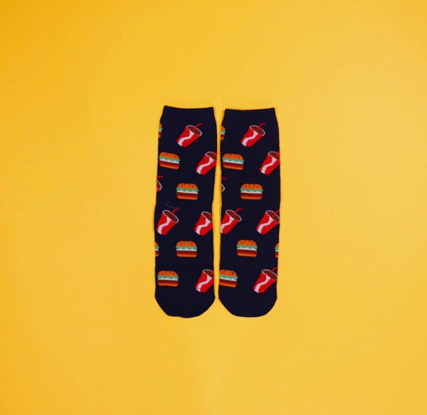 Burger and Cola Socks