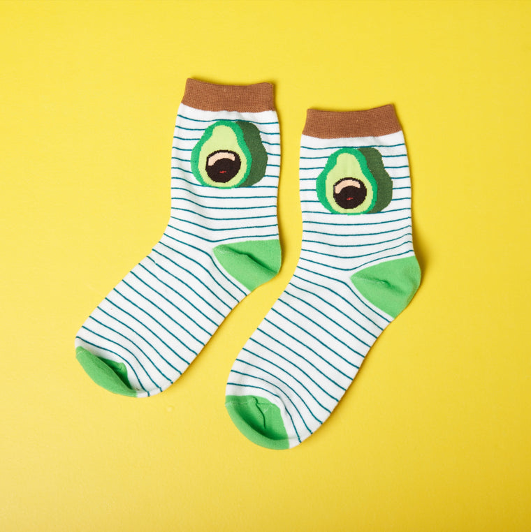 Avocado Stripes Socks