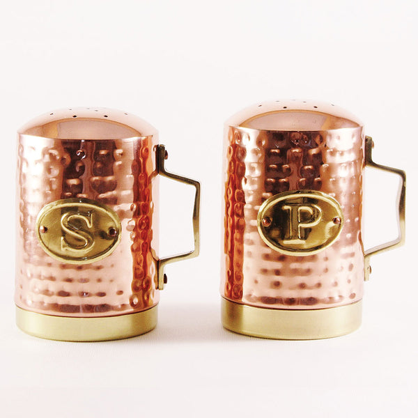 Hammered Copper Salt & Pepper Shakers