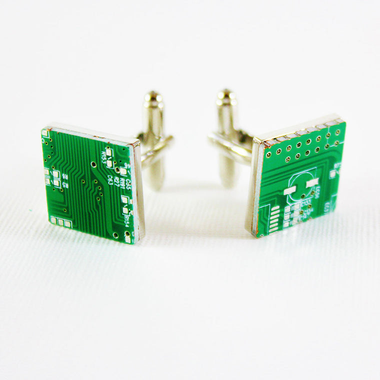 Most Unique Cufflinks - Circuit Board Cufflinks - ELBOTIK.com
